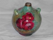 Hand Painted Roses Vase Limoges? Bavaria?