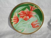 Limoges Hand Painted Lilies Plate Signed