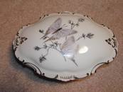 Elegant Limoges France Powder Jar Butterflies