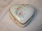 Heart Shaped Trinket Limoges France