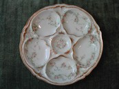 Antique/Vintage Theodore Haviland Limoges Shell Fish/Oyster Plat