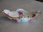 Jean Pouyat Hand Painted Limoges, France Porcelain Gravy