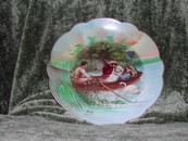 "Limoges Fine China LRL Artist Signed Figural Plate ""Drifting"" ca"