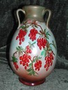 Haviland Limoges Hand Painted Three Handle Vase