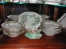 A Set of Limoges Soup Bowls Gold Beading Vintage