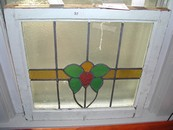 Antique English Art Nouveau Stained Glass Window