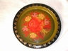 A Vintage Hand Painted Tole Toleware Tray Marked