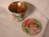 Crownford Giftware, Inc. Candy Tin Victorian Lady-Vintage