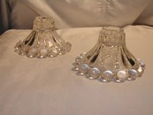 "Anchor Hocking ""Boopie"" Berwick Bubble Glass Candle Holders"