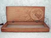 Flemish Art Nouveau Lady Pyrography Glove Box