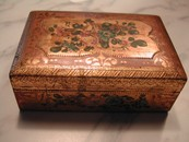 Vintage Gilded Wood Roses English Trinket Box